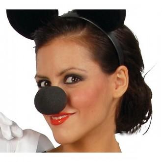 Doplňky - Nos pěnový černý MIKI 3982 - 5 cm