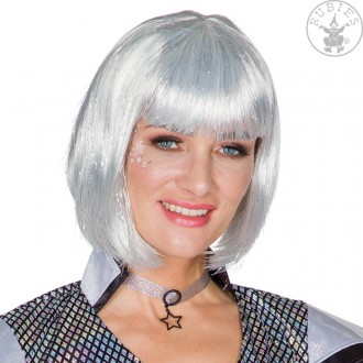 Paruky - Krátká stříbrná paruka