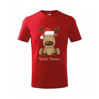 Kostýmy - Dětské tričko Veselé Vánoce červené