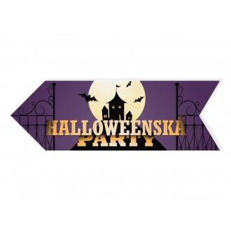 Halloween - Halloweenský ukazatel hrad