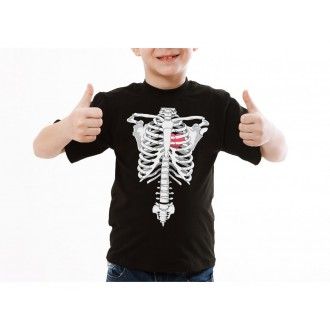 Halloween - Dětské tričko kostra rentgen