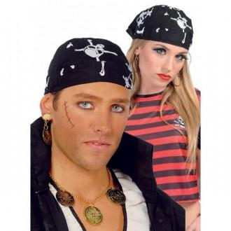 Klobouky, čepice - Pirátský šátek s motivem lebky