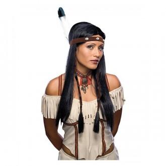 Indiáni - Indiánka s čelenkou - karnevalová paruka