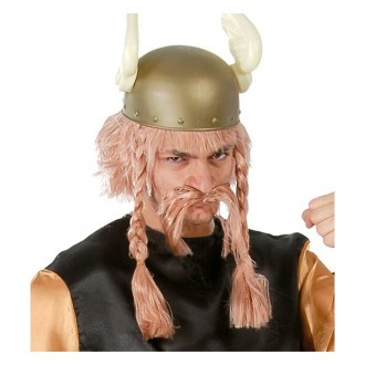 Paruky - Paruka s knírem Viking