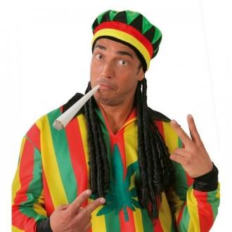 Klobouky, čepice - Čepice jamajka BOB MARLEY