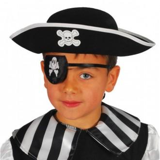Klobouky, čepice - Pirátský klobouk filcový dětský