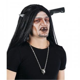 Halloween - Nůž v hlavě na sponě