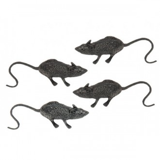 Čarodějnice - Set krysy 6 cm 4 ks