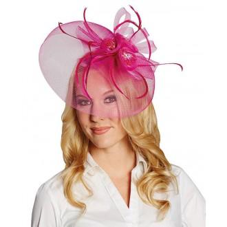 Klobouky, čepice - Růžová ozdoba vlasů