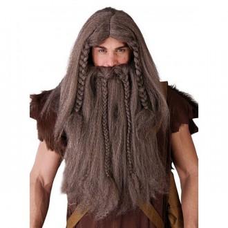 Paruky - Paruka viking s vousy