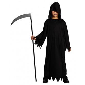 Kostýmy - Černý hábit s kapucí