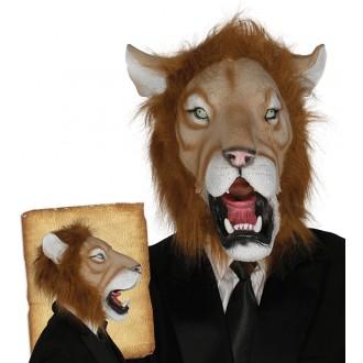 Masky - Latexová maska lva