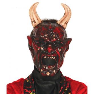 Halloween - Maska lucifer s rohy