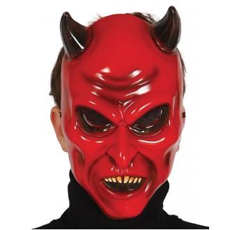 Halloween - Maska lucifer s růžky
