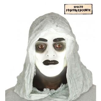 Halloween - Fluoreskující maska ducha - ON