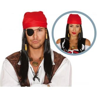 Paruky - Pirátská paruka unisex