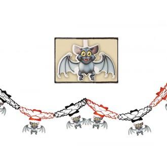 Halloween - Girlanda s netopýry 15 x 200 cm