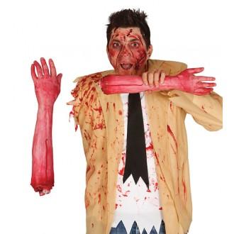 Halloween - Utržená paže v reálné velikosti