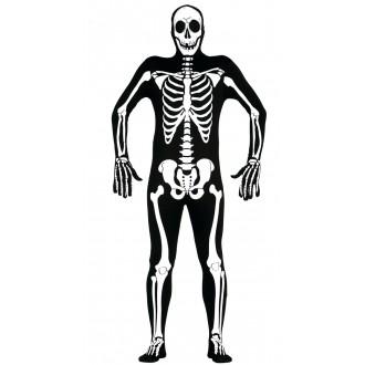 Halloween - Černý overal s motivem kostry