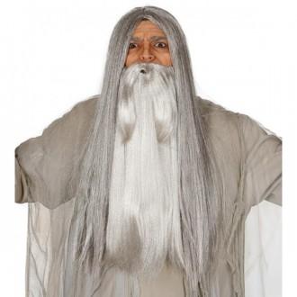 Doplňky - Velké vousy šedé vlasové
