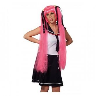 Paruky - Sailor Space Girl pink - karnevalová paruka