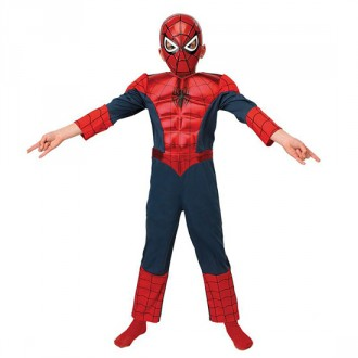 Kostýmy - Ultimate Spiderman Deluxe Metallic Child