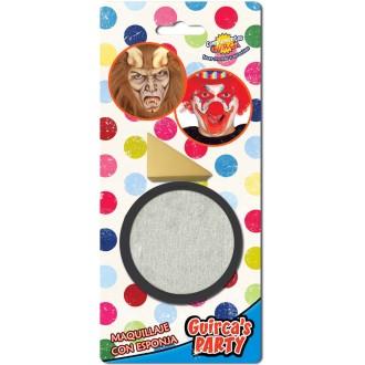 Líčení a kosmetika - Líčidlo stříbrné s aplikační houbičkou
