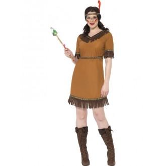 Kostýmy - Hnědý indiánský kostým