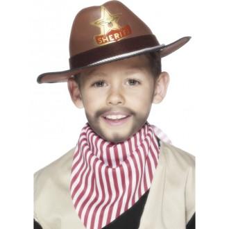 Klobouky, čepice - Klobouk s šerifskou hvězdou