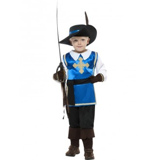 Kostýmy - Modrý mušketýrský kostým - dětský