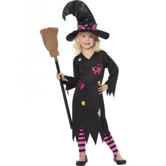 Čarodějnice - Dětský čarodějnický kostým