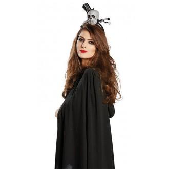Halloween - Dámský klobouček - Smrtka na sponě