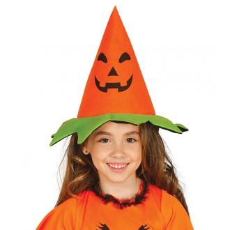 Klobouky, čepice - Dětský čarodějnický klobouk dýně