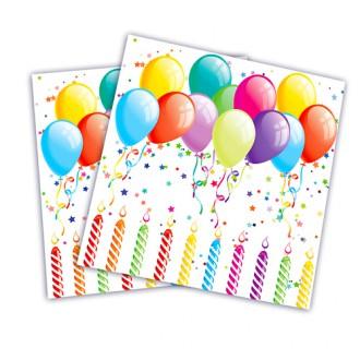 Párty doplňky - Párty ubrousky s balonky 20 ks