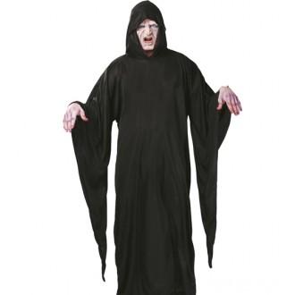 Halloween - Tunika s kapucí černá