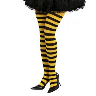 Doplňky - Punčocháče včelka žluto-černé