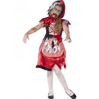Halloween - Dětský kostým zombie Karkulky