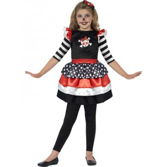 Halloween, horor - Barevný kostým s lebkou