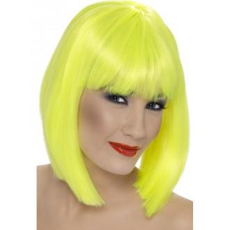 Paruky - Paruka glam - neonově žlutá