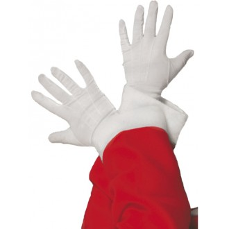 Mikuláš, anděl, čert - Bílé rukavice Santa