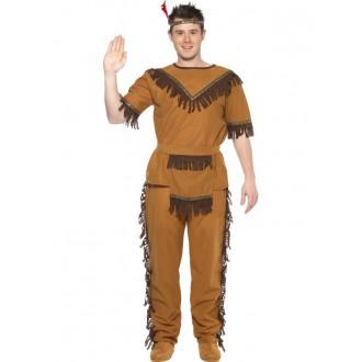 Indiáni - Hnědý kostým pro indiány