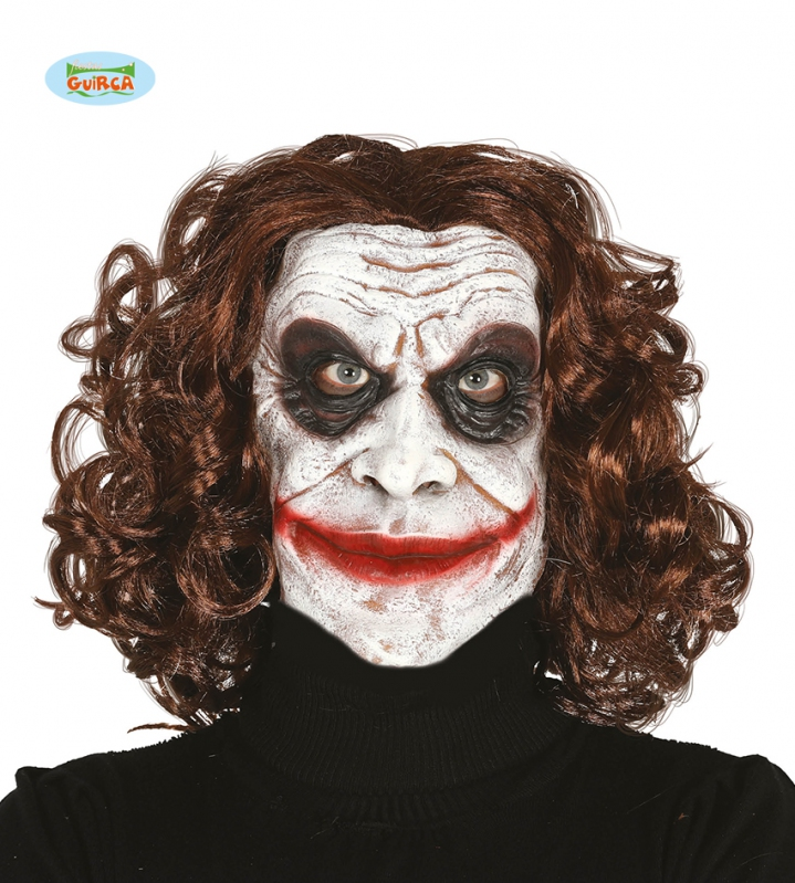 Maska Joker s vlasy