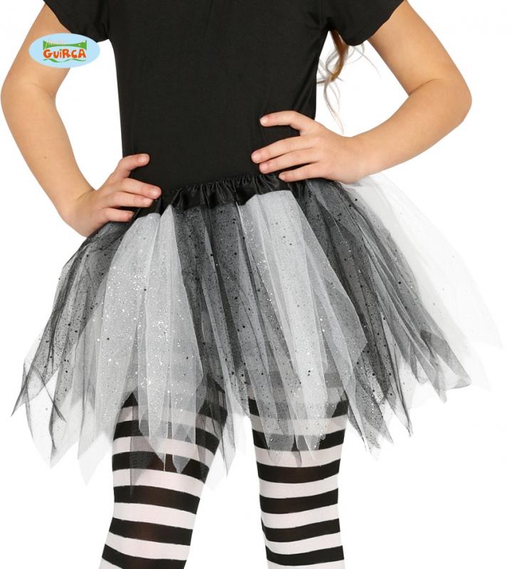 Tutu sukně dětská - černo - bílá