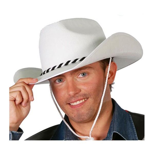 Kovbojský klobouk bílý vel. 57 - 58