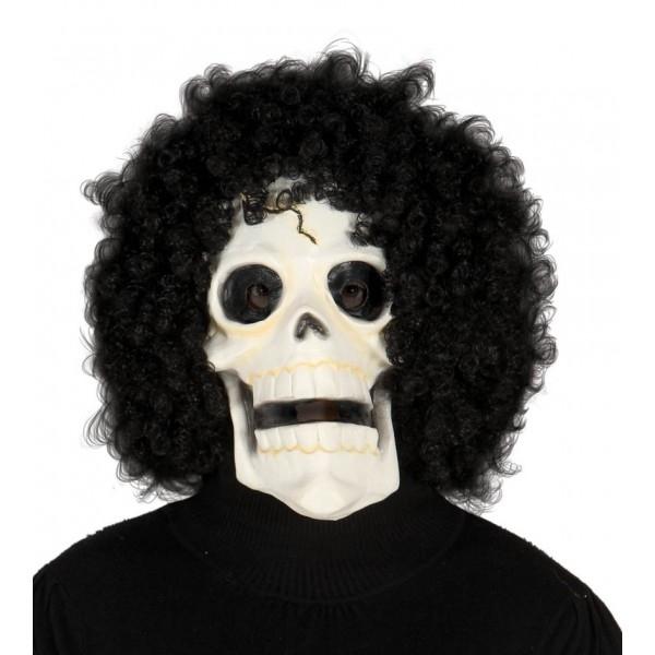 Maska SKULL s vlasy