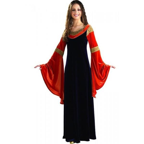 Sametové šaty Arwen Deluxe - licenční kostým - STD - 36/42