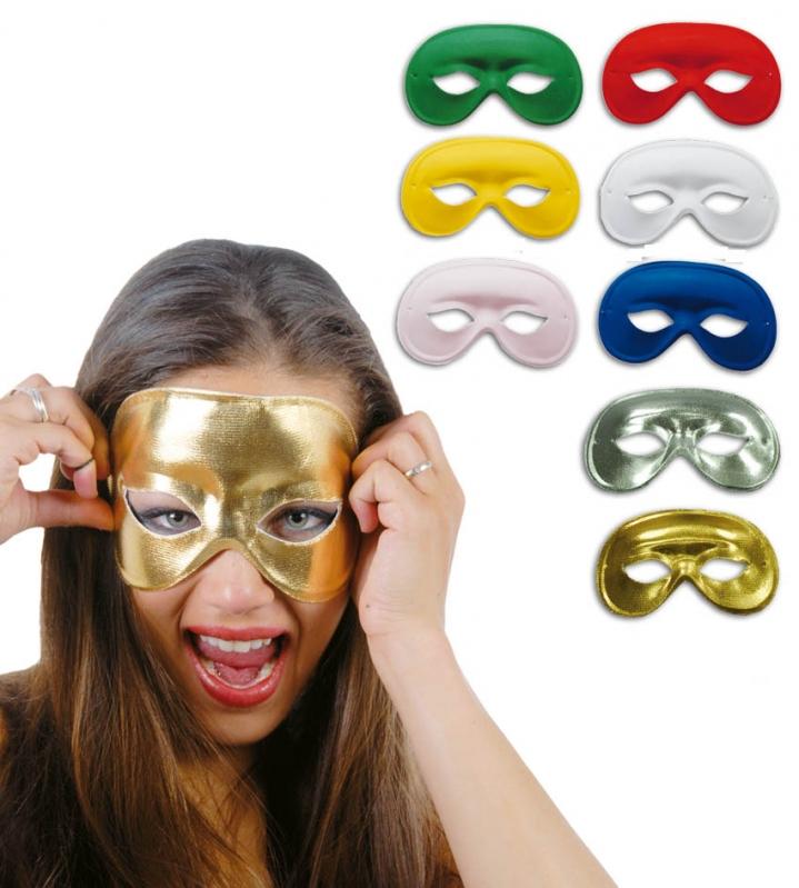 Maska barevná - zlatá