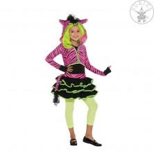 Neon Pink Zebra Hoody - kostým