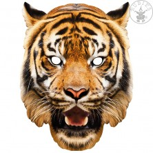 Tygr - kartonová maska pro dospělé