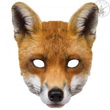 Liška - kartonová maska pro dospělé